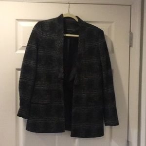 BR Factory Plaid Wool Boyfriend Blazer